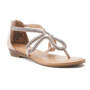 CANDIE'S Okra Blush Flat Sandal